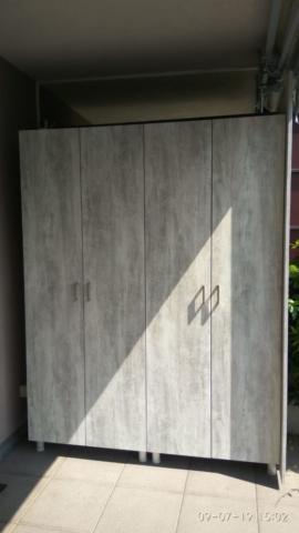 armadio da esterno su misura