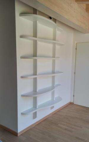 libreria a parete su misura
